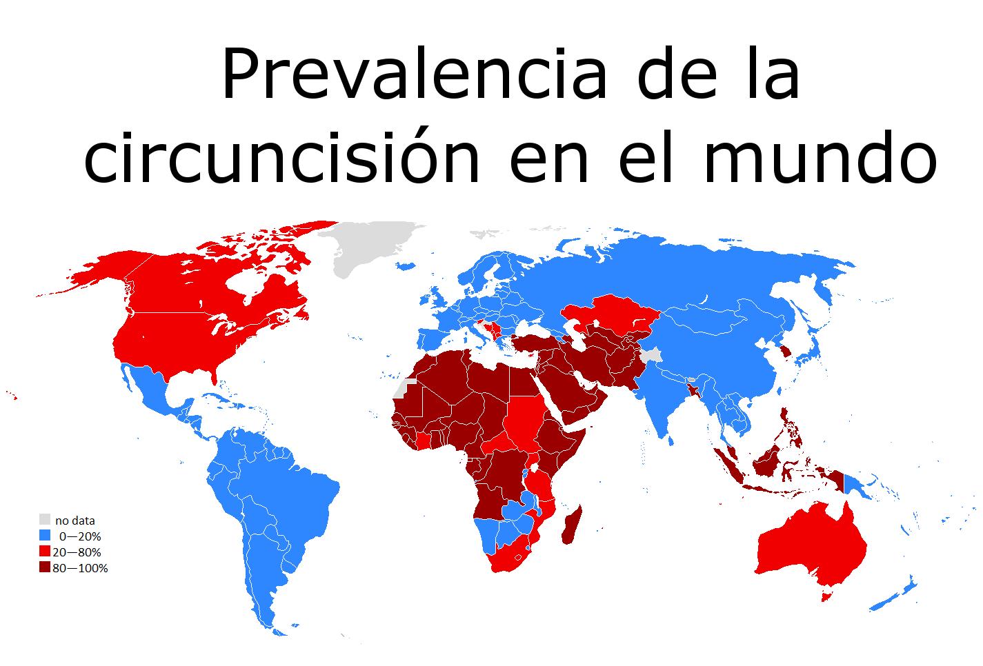 Prevalencia geográfica de la circunsición.
